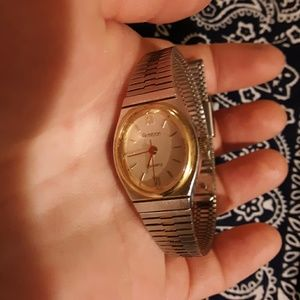 Silver and gold tone ladies Armitron watch